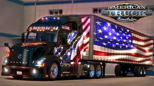 American Flag On Truck American Truck Simulator 9 11 Tribute Flags To New York Ny Youtube
