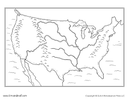 Map Of The Usa Blank by Tim Van De Vall Comics U0026 Printables For Kids