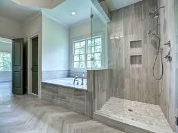 contemporary master bathroom with frameless showerdoor drop in
