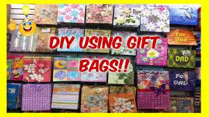 diy repurpose gift bags youtube