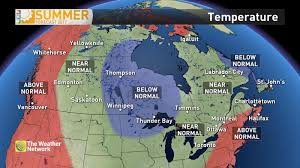 Northern Canada Map by News Updated The Next 2 Months Of Summer Weather In Canada