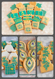 peacock favors wedding cookie favors the baked equation