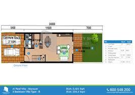 Ground Floor 3 Bedroom Plans Floor Plan Of Contemporary Style Al Reef Village