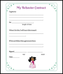 behavior contract template for parents best resumes curiculum