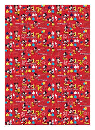 mickey mouse christmas wrapping paper mickey mouse clubhouse gift wrap wrapping paper 4m roll