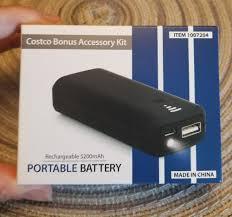 new costco bonus accessory kit rechargeable 5200mah portable