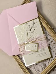 pink wedding invitations pink and gold wedding invitation wedding pink lace invitations