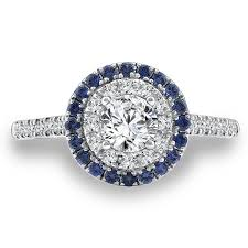 sapphire halo engagement rings gold casters jewelry caro74 and blue sapphire halo