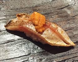 comment cuisiner barracuda barracuda topped with uni tsubasa sushi sf sushi