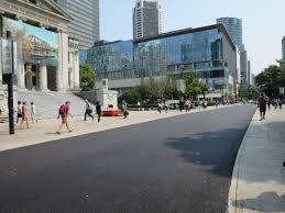Asphalt by 800 Robson Plaza Now A Single Level Asphalt Surface Aligned To