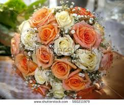 Different Color Roses Beautiful Wedding Bouquet Made Different Color Stock Photo