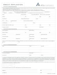 personal credit application form free edit print fill out