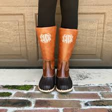 s bean boots size 9 monogram duck boots i jewelry