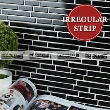 Kitchen Backsplash Mosaic Tile Irregular Strip Decorative Wall Tile Mosaic Tile Pattern For