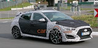 hyundai veloster 2019 hyundai veloster n spied with less camouflage photos 1 of 4