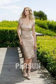 robe maman mariã e robe dorée pour mère du marié courte bustier en satin