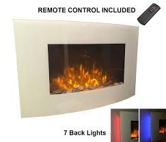 galleon fires taurus wall mounted electric fire white curved