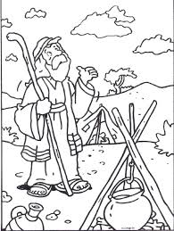 coloring page abraham and sarah bible coloring pages bible stories coloring picture for kids bible