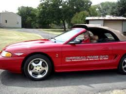 mustang of indianapolis 1994 mustang cobra indy 500 official pace car