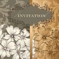Floral Invitation Card Designs Elegant Design Of Floral Invitation Card In Vintage Style U2014 Stock