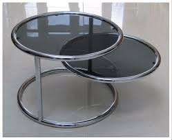round chrome side table glass and chrome coffee table round best gallery of tables furniture