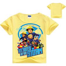shop fireman sam kids clothes boys shirt girls tops