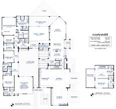 courtyard60 luxury modern house plan 61custom contemporary