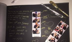 guest book with black pages photobooth icandi photobooth