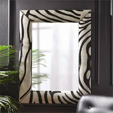zebra cowhide wall mirror by tozai home seven colonial