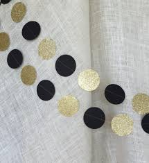 New Year S Eve Paper Decorations by 50th Birthday Decoration Black And Gold Glitter Circle Garland