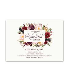 wedding rehearsal dinner invitations floral watercolor wedding rehearsal dinner invitation