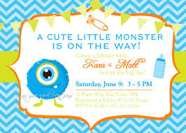 Unique Baby Shower Invitation Cards Monster Baby Shower Invitations Theruntime Com