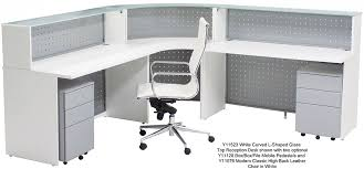 L Shaped White Desk Curved L Shaped Glass Top Reception Desk