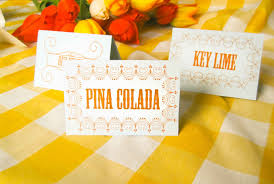 k i s s keep it simple sister pretty place cards made fast