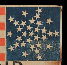 Us Flag 1860 Jeff Bridgman Antique Flags And Painted Furniture 31 Stars