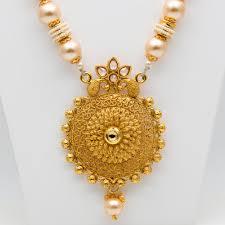 pearls gold necklace sets images Mybluepink antique gold necklace set with moti mala jpg
