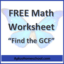 free math worksheet find the greatest common factors free