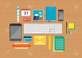 affaires de bureau vector illustration ensemble de bureaux et d affaires éléments de