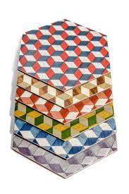 objet deco retro 6 placemats hexagon placemats art deco placemats geometric