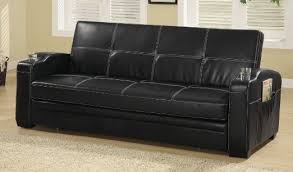 Modern Leather Sleeper Sofa Amazing Of Leather Sofa Sleepers Marvelli Black Faux Leather Sofa