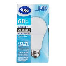 led vs light bulb great value led general purpose daylight medium base bulbs 9w 2