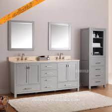 All Wood Bathroom Vanities by Tah 002 Modern Free Standing Double Sink Solid Wood Bathroom