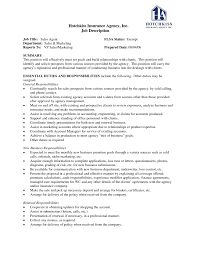 Resume Job Profile by 29 29 Insurance Agent Job Description We Went To The Next Step To