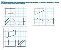 using the given orthographic views sketch an isom chegg com