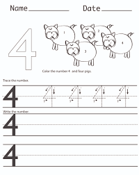 number 4 worksheets free worksheets library download and print