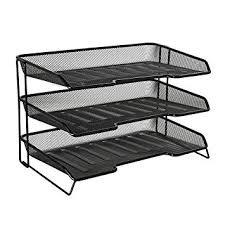 amazon com rolodex mesh collection 3 tiered desk tray black