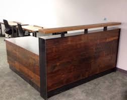 Metal Reception Desk Dseese Reclaimed Wood U0026 Steel Reception Desk