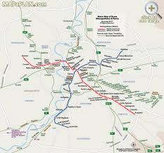 Washington Subway Map by Metro Subway Map With Attractions Overlay Rome Top Tourist