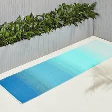 Blue Ombre Rug Blue Green Outdoor Rug Runner