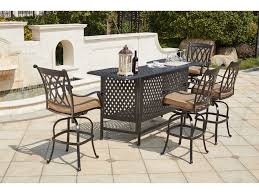 Darlee Patio by Darlee Outdoor Living Standard Capri Cast Aluminum 5 Piece Bar